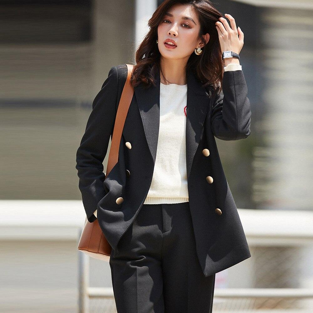 Black Coat Gothic Womens Blazers And Jackets Feminino High Quality Women Fashion 2019 Suit Jacket Office Ladies Work Blazer Fall