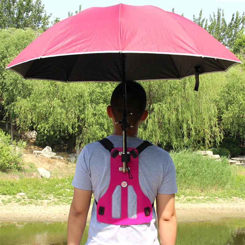 Back type Sun umbrella Daily Multifunction fishing sunscreen Folding Umbrella Bracket Outdoor photography Hiking Riding