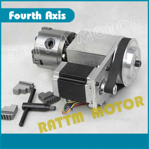 Image 3 - K11 80mm 3 jaw chuck 80mm 4th Axis & Tailstock CNC dividing head/Rotation Axis kit for Mini CNC router/ woodworking engraving