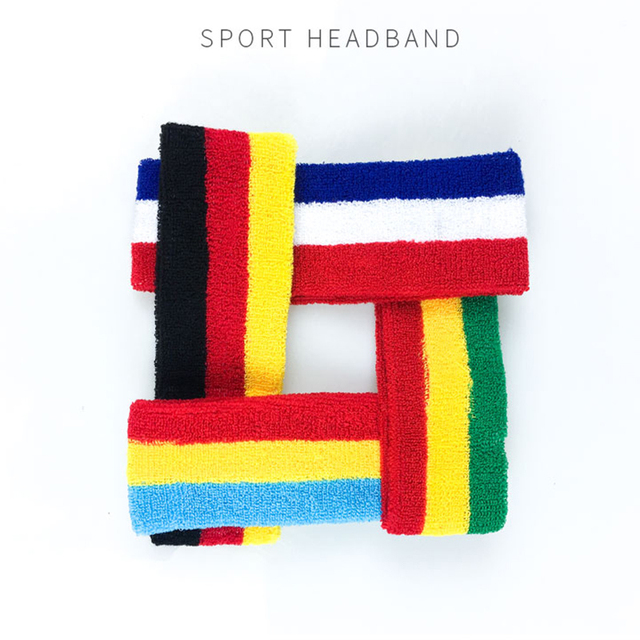 Breathable Absorbent Towel Sweat Guide Belt Basketball Running Boxing Antiperspirant  Head Band 4