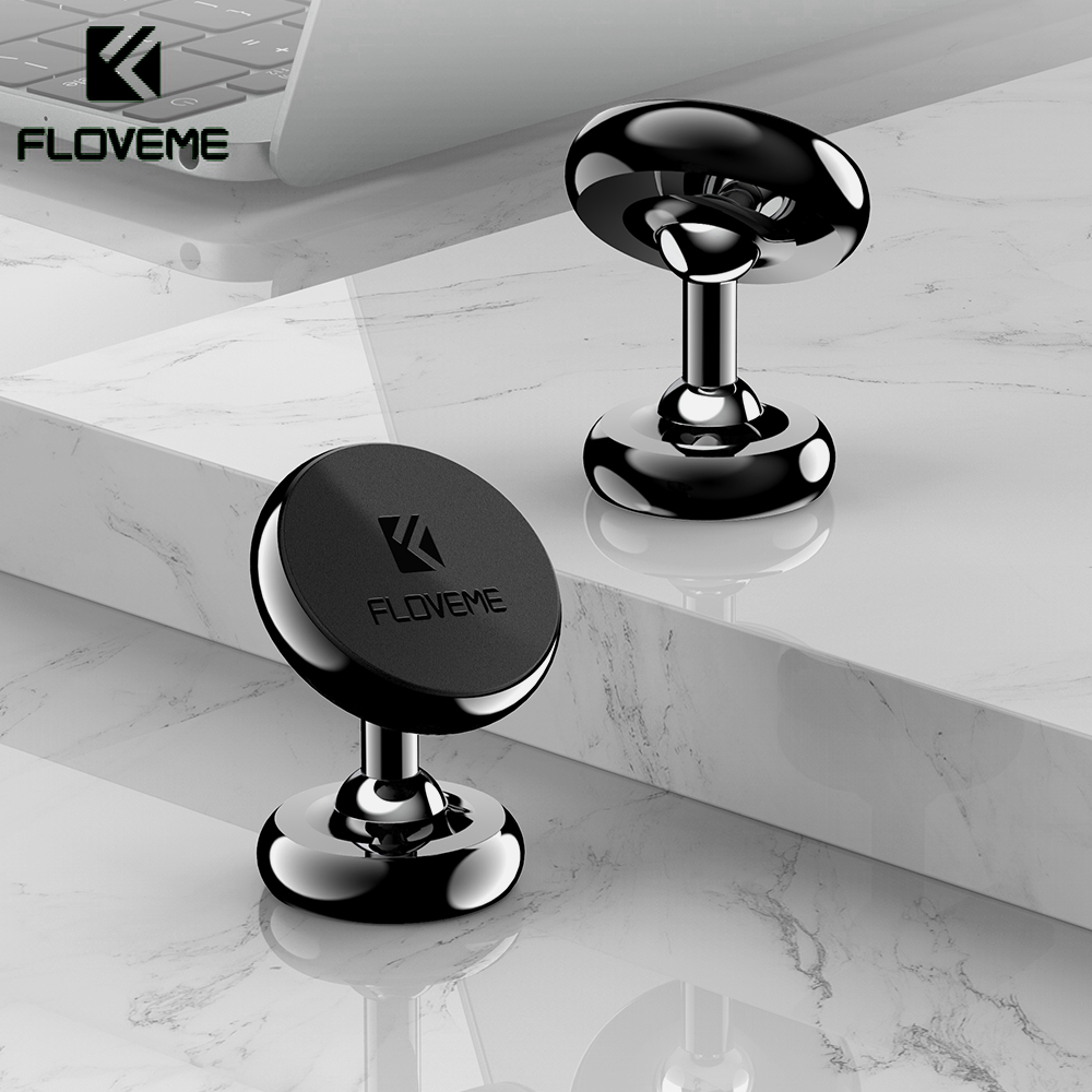 FLOVEME Magnetic Phone Holder For Phone In Car 360 Degree Rotating Car Phone Holder Strong Magnet Holder Stand Suporte Celular