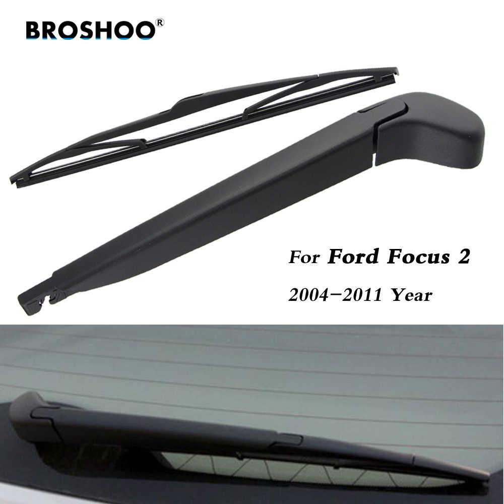 Balais d'essuie-glace de voiture BROSHOO lame d'essuie-glace arrière en caoutchouc pour Ford Focus 2 hayon 14 pouces, 2004-2011, accessoires de voiture Auto