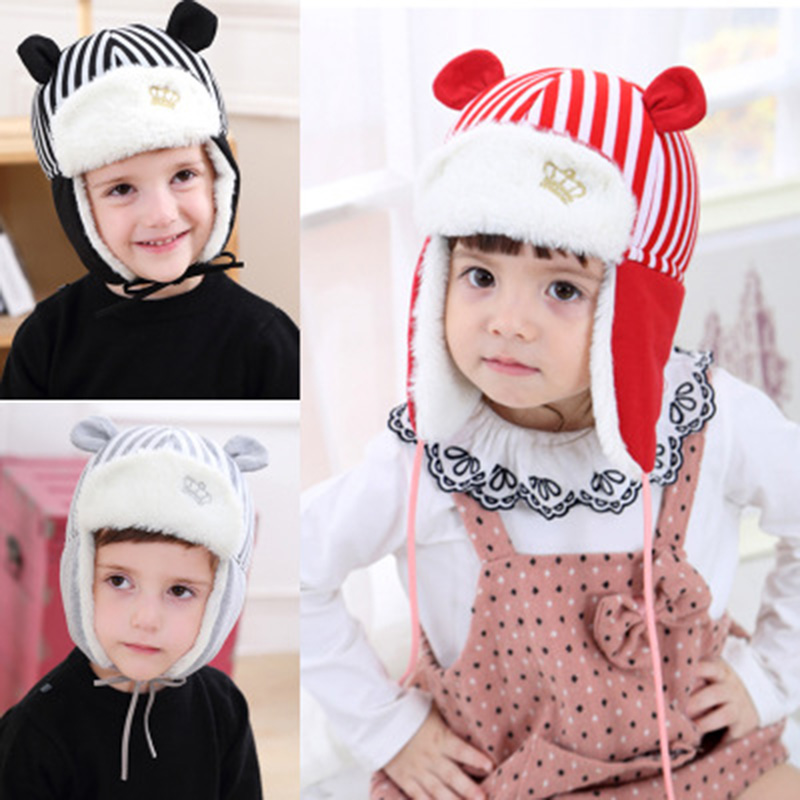 Face-Mask Bomber-Hats Russian-Hat Snow-Cap Earflap Winter Kids Outdoor Warm Child Family-Cap