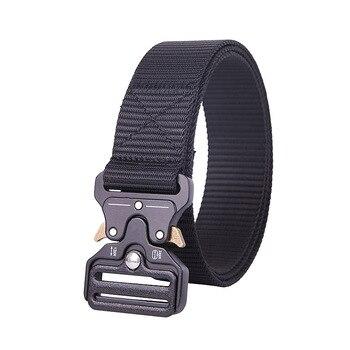 цена на Cobra Tactical Men's Belt Army Fan Outdoor Wilderness Multifunctional Special Forces Black Hawk Training Nylon Belt 125 cm Long