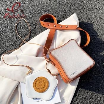 Fun Toast Design Crossbody Bag Pu Leather Fashion Women Purses and Handbags Girl's  Shoulder Bag Female Clutch Bag 2021 New 1