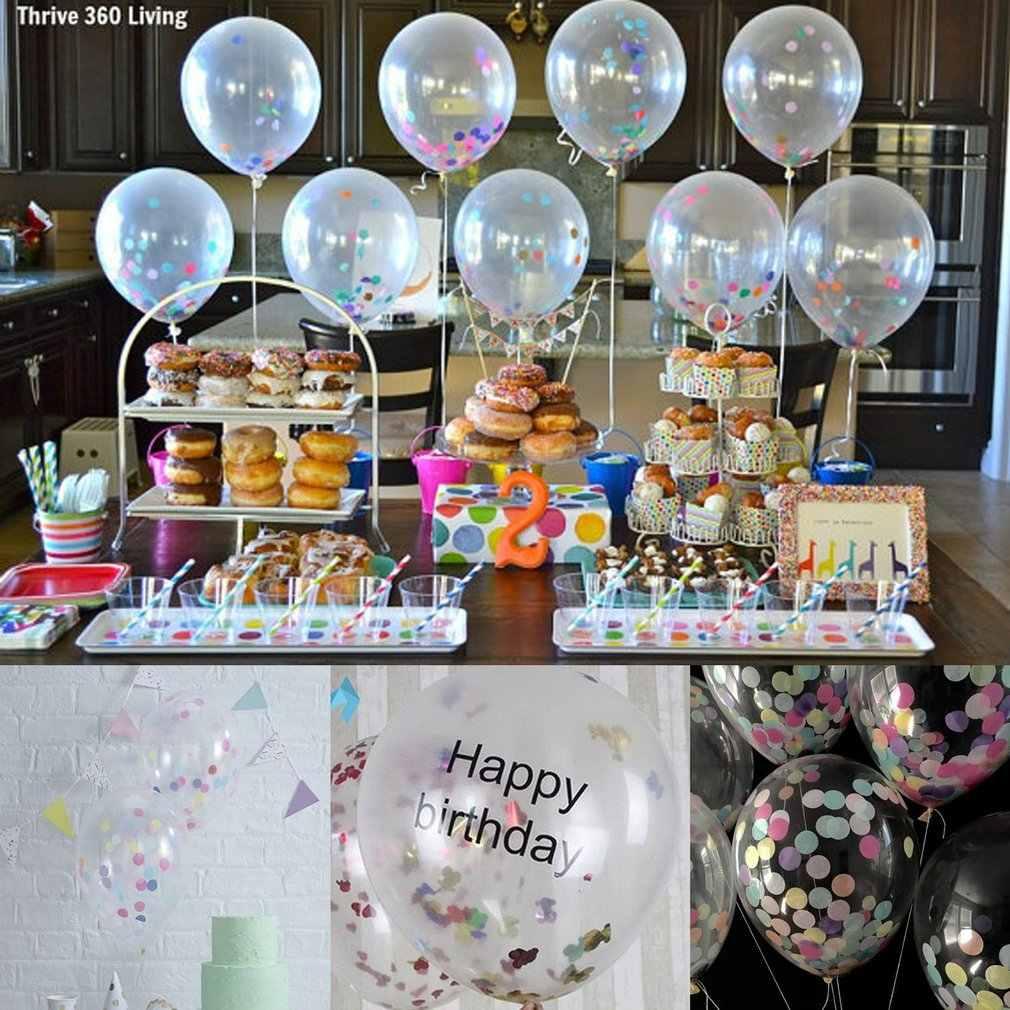 10pcs Multicolor Coriandoli Aria Palloncini di Carta Che Desiderano Le Lanterne Per Festa di Compleanno Regali di Nozze Chiaro Palloncino Gonfiabile Giocattoli