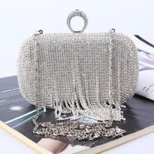 2019 New Women Evening Bags Fashion Drilling Diamond Chain Shoulder Crossbody Bags Ladies Clutch handbags c181 цена