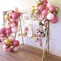 Pastel Global bebé rosa melocotón globo de color macarrón guirnalda arco globo de látex boda guirnalda para fiesta de cumpleaños Baby Shower telón de fondo Deco