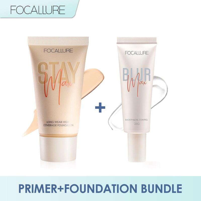 FOCALLURE 2 шт. набор для макияжа порово-размытая грунтовка и матовая основа для основы Косметическая легкая матовая отделка для лица