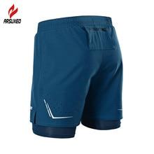 ARSUXEO, 2 в 1, мужские шорты для бега, светоотражающие, быстросохнущие, компрессионные, для бега, спортзала, фитнеса, марафона, спортивные шорты с карманом на молнии