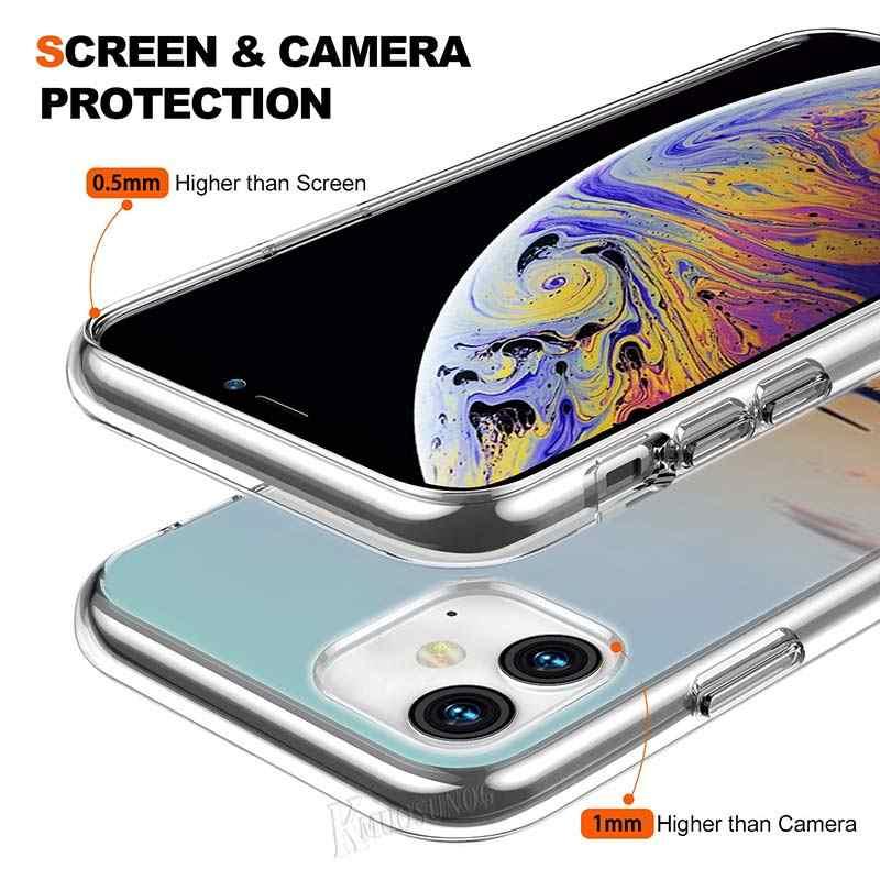 Trong suốt Silicone Mềm Điện Thoại Ốp Lưng Máy Bay Nóc Buồng Lái dành cho iPhone XS X XR Max 8 7 6 6S Plus 5 5 5S SE Túi Đựng Điện Thoại