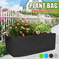 120x60x40cm crescer saco cama de jardim anti-corrosão ao ar livre vegetal plantador não-tecido plântula galão árvore lidar com retângulo