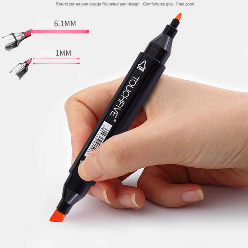 TOUCHFive Dual Head markers Manga Designer Art supplies Single black Based Oily Alcohol Markers Sketch Marker Pen Drawing Artist