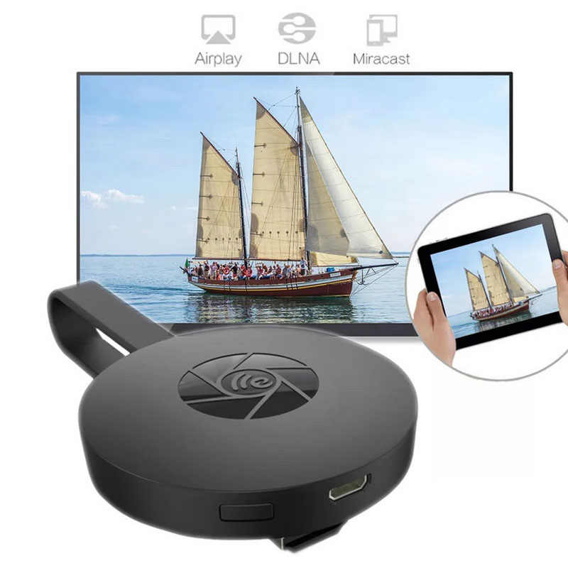 Miracreen TV Stick 1080P Wireless WIFI Menampilkan TV Dongle Receiver Anycast Plus Airplay 1080P HDMI TV Stick untuk DLNA Miracast