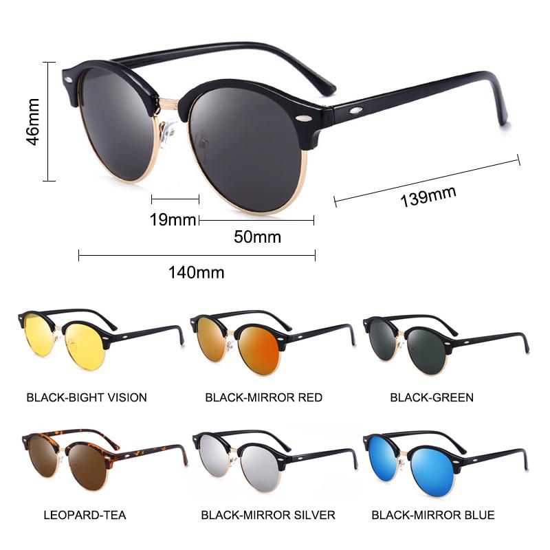 5-Мужские поляризованные солнцезащитные очки SIMPRECT, винтажные круглые солнцезащитные очки в стиле ретро 2020 с антибликовым покрытием смотреть на Алиэкспресс Иркутск в рублях