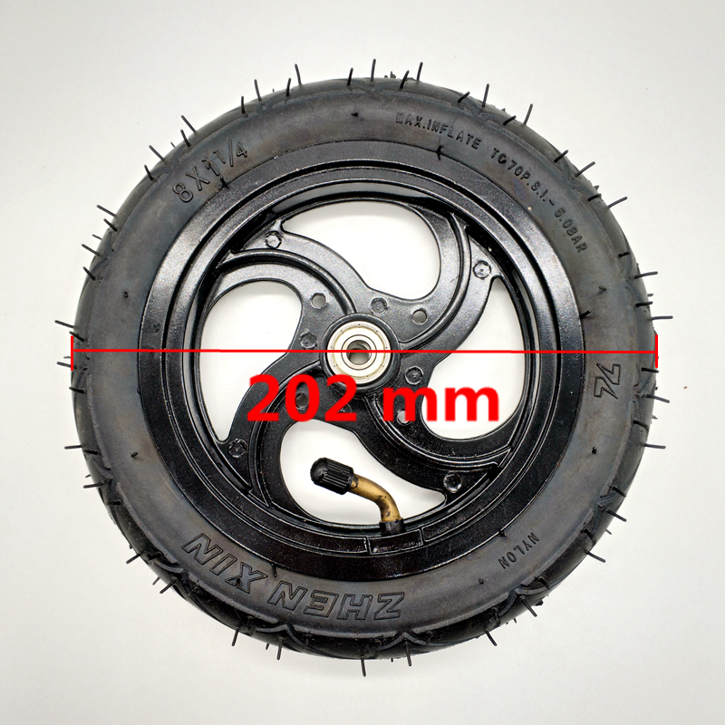 Electric Scooters Pneumatic Tire Inflatable Full Round Wheel 8 8X1 1//4 200*45