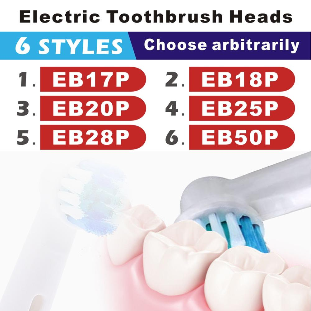 8/12pcs Replacement Toothbrush Heads For Braun EB50A Oral B D12 D16 Electric Toothbrush Hygiene Care Clean Electric Tooth Brus image