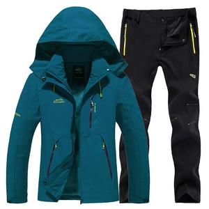Image 4 - חדש עבה חם סקי חליפת נשים עמיד למים Windproof סקי וסנובורד מכנסיים מעיל סט נשי שלג תחפושות חיצוני ללבוש