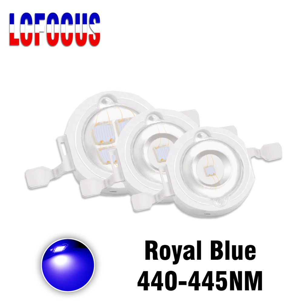 1W 3W 5W Royal Blue 440-445nm Grow LED COB Chip Diode For DIY led grow plant light tent Hydroponics Aquarium