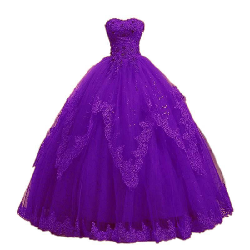 Sweetheart Lace Tulle Quinceanera Dresses 2019 vestidos de 15 anos Ball Gown Crystal Appliques Back Lace Prom Dresses Real Photo