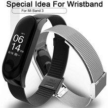 Mi Band 3 Wrist Strap Metal Screwless Stainless Steel For Xiaomi Mi Band 3 Strap Bracelet Miband 3 Wristbands Pulseira недорого