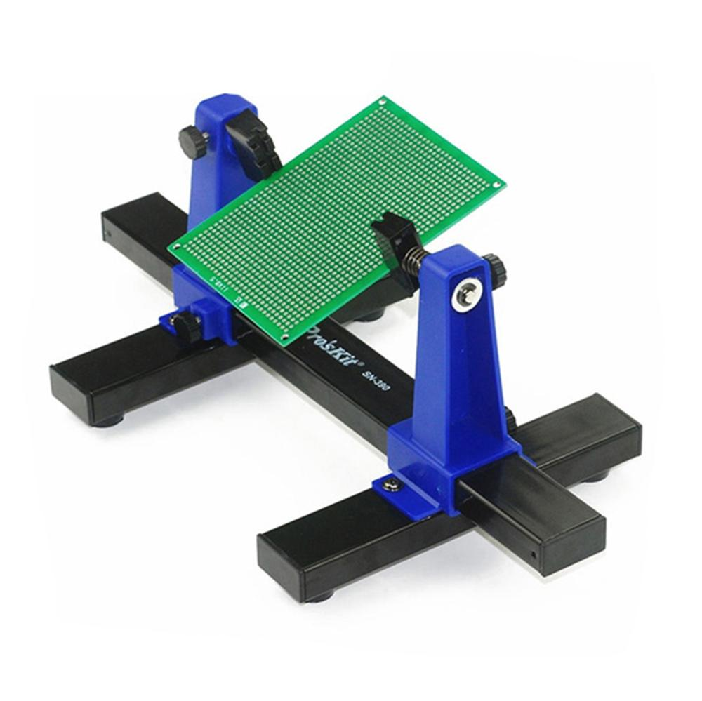SN-390 Adjustable Printed Circuit Board Holder Frame PCB Soldering And Assembly Stand Clamp Fixture Jig Tool 360 Degree Rotation