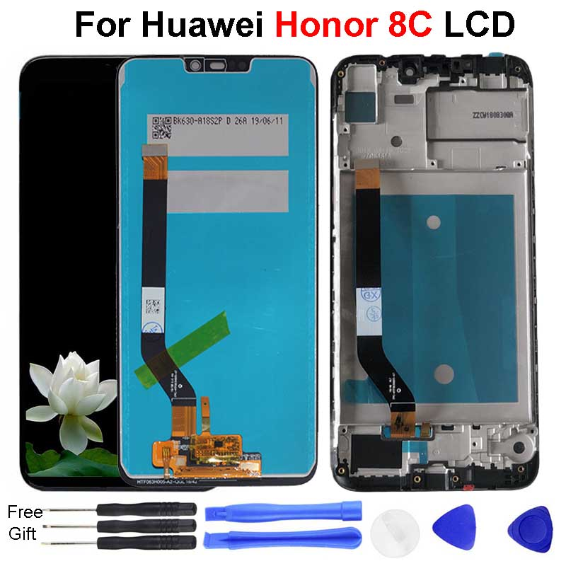 For Huawei <font><b>Honor</b></font> <font><b>8C</b></font> LCD <font><b>Display</b></font> BKK-AL10 BKK-L21 LCD <font><b>Display</b></font> <font><b>Screen</b></font> <font><b>With</b></font> Frame and <font><b>Touch</b></font> Panel Digitizer For <font><b>Honor</b></font> <font><b>8C</b></font> <font><b>Display</b></font> image
