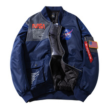 2020 marca gruesa primavera otoño Vintage MA-1 streetwear Hip hop militar Parkas abrigos bombardero vuelo fuerza aérea piloto pareja algodón