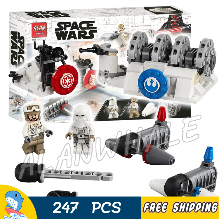 247pcs Space <font><b>Wars</b></font> Hoth Generator Snowtrooper <font><b>Rebel</b></font> <font><b>Trooper</b></font> 11418 Model Building Blocks Gifts Sets Toy Compatible With Lago image