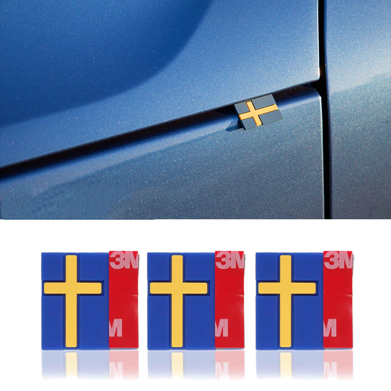 10Pcs Car 3D Sticker Sweden Flag Decoration Emblem Car Door Trunk front grille For VOLVO XC40 XC60 XC90 V90 S90 S60 V60 V40