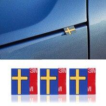 10Pcs Car 3D Sticker Sweden Flag Decoration Emblem Car Door Trunk front grille For VOLVO XC40 XC60 XC90 V90 S90 S60 V60 V40