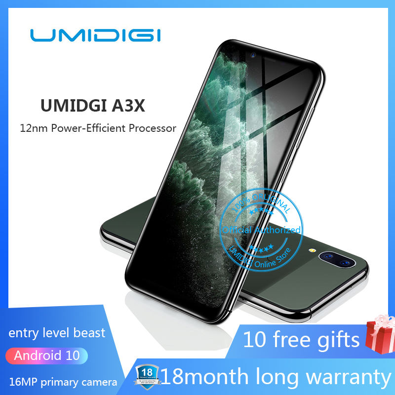 Фото. UMIDIGI A3 Pro 5,7 дюйм 19:9 полный Экран смартфон 3 GB + 32 GB Android 8,1 12MP + 5MP мобильно