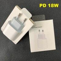 Cargador PD de carga rápida, 10 unids/lote, 18w, enchufe Original de la UE y EE. UU. Para teléfono 11 pro max xs xr con embalaje al por menor OEM