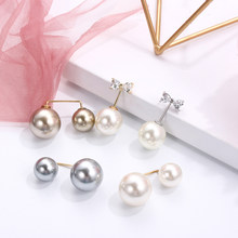 1Pc Double Pearl Brooch Elegant Collar Blouse Sweater Pin Corsage Simple Fashion Charm Clothes Accessories Jewelry Gifts(China)
