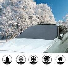 Универсальный автомобильный Магнитный солнцезащитный козырек для лобового стекла автомобиля, снежный солнцезащитный козырек, Зимний Козырек, чехол для лобового стекла автомобиля