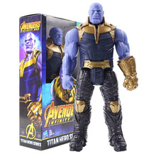 30CM Marvel Avengers 3 Infinity War Titan Hero Series Thanos Hulk Action Figure Toy PVC Collectible Model Toys for Children Gift цена в Москве и Питере