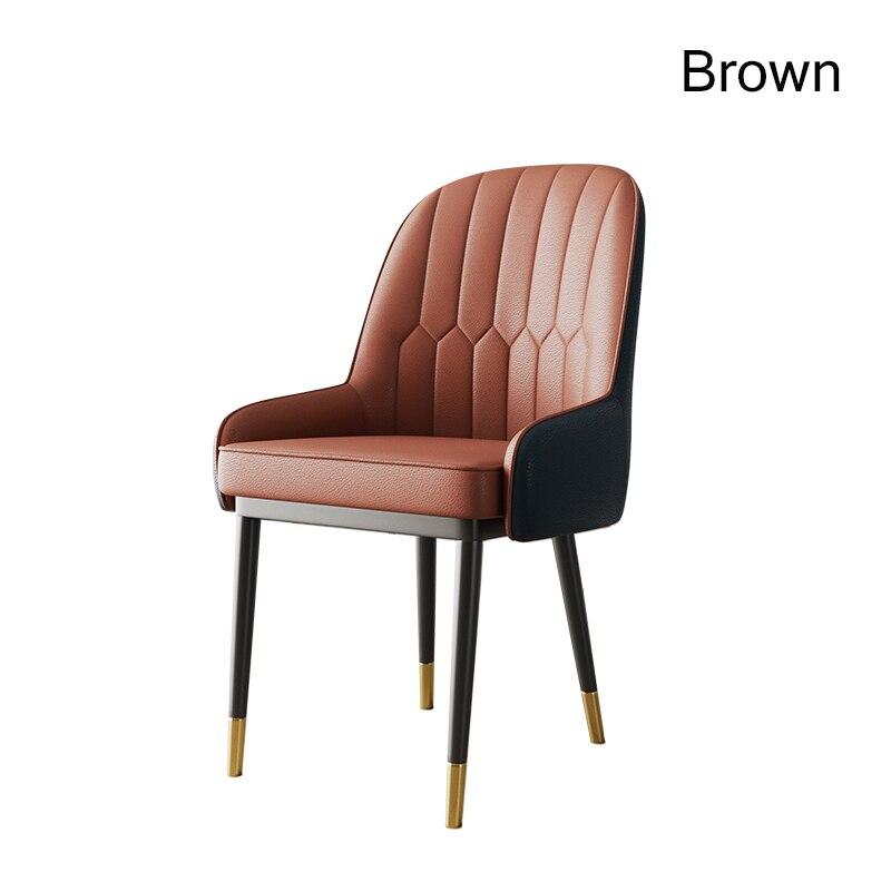 Скандинавский Инс металлический пластиковый стул ресторанный стул ресторан офисное собрание компьютерное кресло семейная спальня обучающее кресло - Цвет: Brown