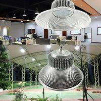 23*8cm conduziu a luz alta 50 w da baía do ufo 100 w 150 w 200 w para a lâmpada de alumínio industrial do armazém comercial|Efeito de Iluminação de palco| |  -