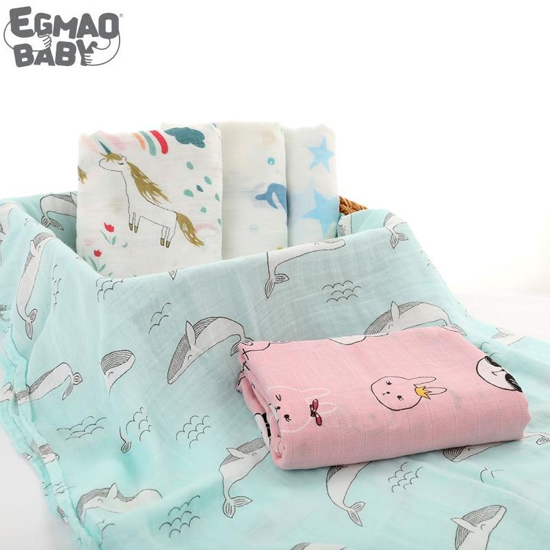 120*120cm Newborn Wrap Muslin Baby Swaddle Bamboo Blanket Wraps Manta Bebe Baby Blanket Swaddling Bath Toewl Breastfeeding Cover