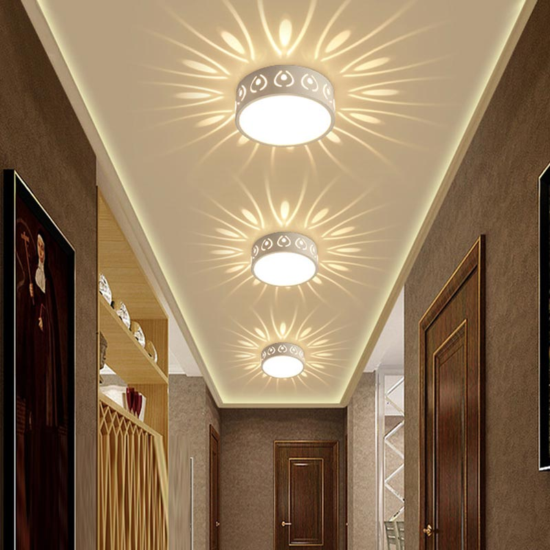 3W 5W LED Ceiling Lights Modern LED Ceiling Lamp Color Decoration Shadow Corridor Aisle Lampara Light Fixtures 85-265V