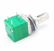 Single potentiometer B5K B502 20% precision dimming potentiometer dimmer switch 5 feet with switch associated with a midpoint of 3 5 cm single potentiometer a10k