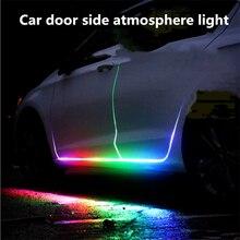 1.2M 1.5M 1.8M 12V DrlรถLEDรถยนต์ประตูด้านข้างบรรยากาศStrip RGBแถบไฟสำหรับแผ่นประตูรถ