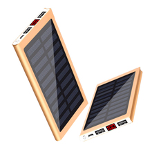 Solar Power Bank External Battery 2 USB LED 30000mah Powerba