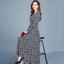 Women dresses autumn Casual Slim ladies Dress A-Line Printed