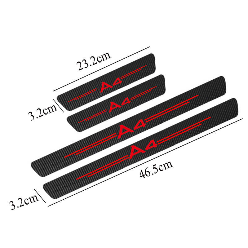 4 pezzi in fibra di carbonio Porte, Soglie Guardie Adesivo per Audi A3 A4 A5 A6 A7 A8 TT Q3 Q5 Q7 A1 b5 B6 B7 B8 B9 8P 8V 8L C6 C5 C7 4F