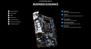 Image 3 - MSI A320M PRO M2 V2 Bo Mạch Chủ AMD Socket AM4 DDR4 Bộ Nhớ RAM M.2 SATAIII SSD HDMI + VGA + DVI PCI E 3.0X16 Mainboard Dành Cho Máy Tính Để Bàn