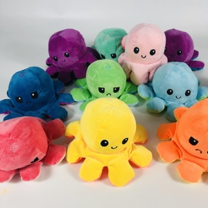Реверсивный флип осьминог плюшевые мягкие игрушки мягкие животные Домашние аксессуары милые животные куклы