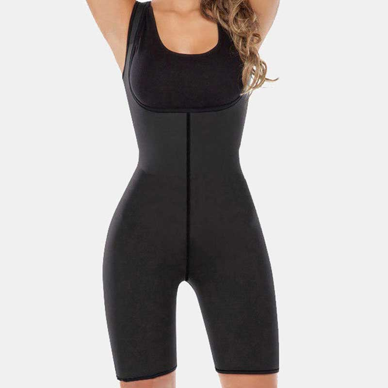 Women Slimming Bodysuit Waist Trainer Body Shaper Corset Sweat Neoprene Legs Shaper Pants Abdomen Control Weight Loss Shapers