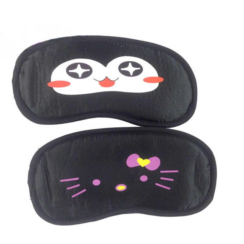 1 Buah Perjalanan Tidur Masker Mata Hitam Mata Shade Tidur Masker Hitam Masker Perban Di Mata untuk Tidur Emosi Tidur masker Hadiah