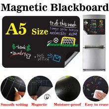 Pizarra magnética tamaño A5, tablero para escribir mensajes, tiza líquida sin polvo
